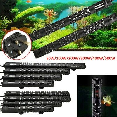50W-500W Aquarium Fish Tank Water Heater Submersible Thermostat Adjustable Temp