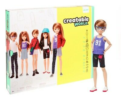 CREATABLE WORLD Dc-619 Brown Deluxe Character Kit Customisable Doll Clothes Wig