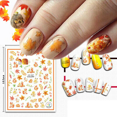 3D Water Transfer Maple ~Leaf Manicure Nail Decor Nail Art Nail Sticker Chic