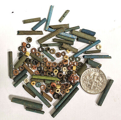 More than a Hundred 2500 Year old Ancient Egyptian Faience Mummy Beads (#L777)