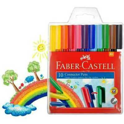 NEW Faber-Castell  Connector Pens 10 Pack FREE POST