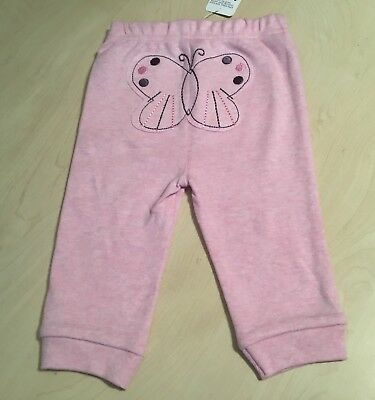 Baby Girls Pink Jogging bottoms. Butterfly detail. Age 3-6 Months. New