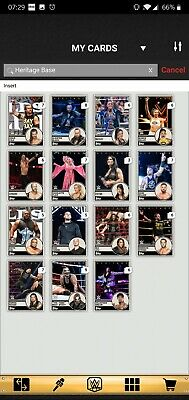 Topps WWE SLAM Digital 2019 Heritage Base Insert Award Ready Complete Set