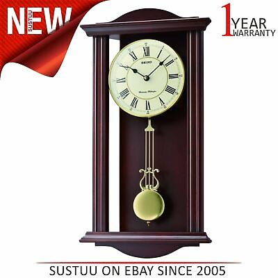 Seiko QXH072B Westminster/Whittington Dual Chime Pendulam Wall Clock - Brown