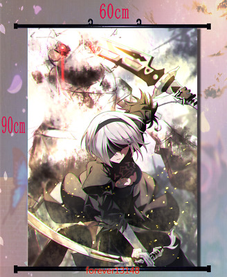 Game NieR Automata YoRHa No.2 Type B Anime Wall Scroll Poster Home Decor 60*40cm