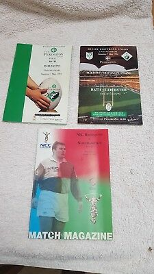 Rugby Cup Final Programmes Pilkington Cup 1992 and 1994