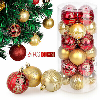 24X30MM CHRISTMAS TREE BAUBLES XMAS DECORATION BAUBLE 12X40MM 10X60MM 6X80MM