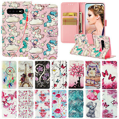 For Samsung Galaxy S10 Plus S10e Cover Leather Magnetic Flip Card Wallet Case