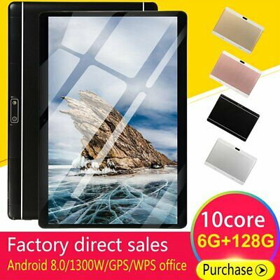 Android 8.0 10 Deca Core Dual SIM Tablet 10.1 WIFI 6+128G Phablet Pad Dual Card