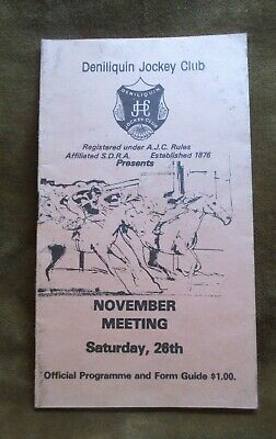 C. 1970s Deniliquin Jockey Club November Meeting Official Programme & Form Guide