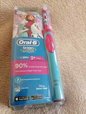 Oral-B Stages Power Electric Rechargeable Toothbrush Frozen For Kids 3+