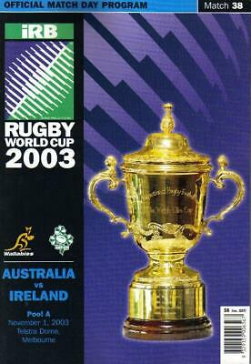 * 2003 Rugby World Cup Finals Official Match Programmes - Choose From List *