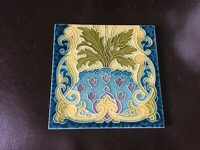 "A GENUINE ART NOUVEUE TILE 6""x6"" BY MINTON."