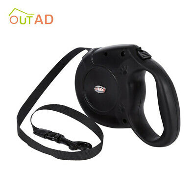 Retractable Dog Lead Extending Leash Tape Cord 5m Max Load 50kg Adjustable wt