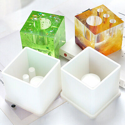 Pen Holder Silicone Mold Flower Pot Mould For Epoxy Resin DIY Dried Flowers