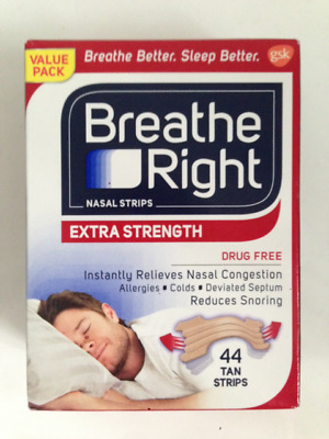 Breathe Right Extra 44 Tan Nasal Strips Stop Snoring Sleep Fast Free Post In Uk