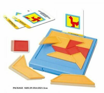 Puzzle Tangram Jigsaw Brain Teasers Toy Colorful Puzzles Kids travel Puzzle