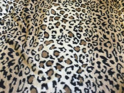 SUPER Luxury MICRO Faux Fur Fabric Material - LEOPARD