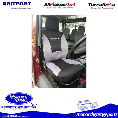 GI220 Land Rover Defender Waterproof Seat Covers from Terrafirma PAIR 2007 On