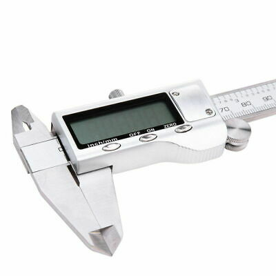"""Stainless Steel Electronic Digital LCD Vernier Caliper 6"""" Micrometer Guage P6T4"""
