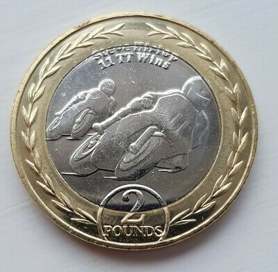 2019 Isle of man 2 pound coin Steve Hislop 30th Anniversary TT 11 wins
