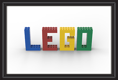 Personalised Lego Name Wall Art Print Poster Ideal Gift A4 Boys/girls Room