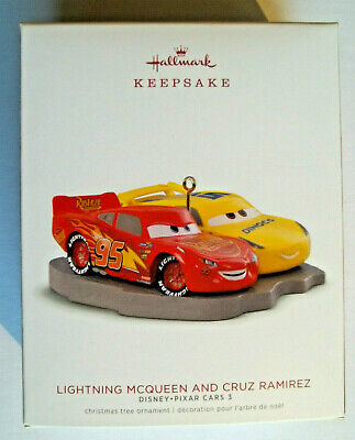 Yr 2018 Hallmark,LIGHTNING MCQUEEN AND CRUZ RAMIREZ,Disney/Pixar CARS
