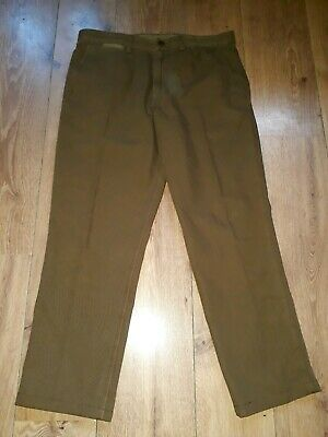 """Fred Perry Stockport 100% Cotton Mid Brown Tapered Leg Trousers W32"""" L27"""""""