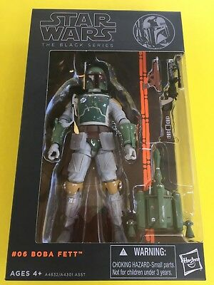 Hasbro Star Wars The Black Series #06 Boba Fett Action Figure AUTHENTIC
