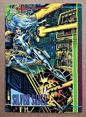 1993 Marvel Universe (Series 4) Silver Sable Promo card by Skybox