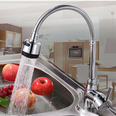 Kitchen Bathroom Spout Faucet 360° Rotate Pull out Sprayer Hot Cold Water Mixer