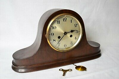 Antique Very Old Mantel Clock Cathedral Gong Movement