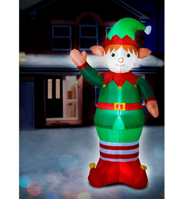 6ft Giant Standing Elf Christmas Decoration Inflatable Light Up LED Outdoor Use