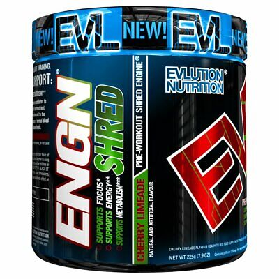 Cherry Evlution Nutrition ENGN SHRED Pre workout Thermogenic Fat Burner Powder