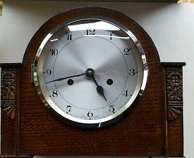Rare  'Enfield' 8-Day  Striking Mantel Clock F3 type movement c1930