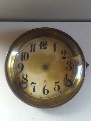 Gilbert Clock Dial Brass Bezel with Glass Circa 1890