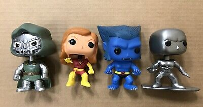 Funko POP Marvel Bobblehead Loose Lot Vaulted Dr Doom Phoenix Beast Surfer