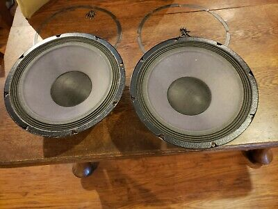 PAIR OF Klipsch Heresy II K 24 K Woofers WITH FOAM TRIM SCREWS TESTED WORKS