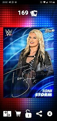 Topps WWE SLAM Digital 2019 Epic Blue Signature Toni Storm