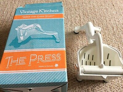 'Vintage kitchen ' fruit  press brand new in box
