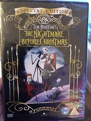 Tim Burton The Nightmare Before Christmas Special Edition Dvd SEALED