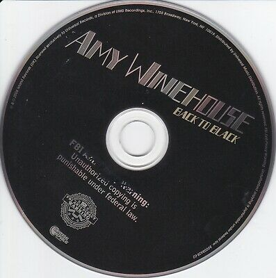 Amy Winehouse  Back to Black   CD ONLY ** NO ARTWORK ** NO CASE**