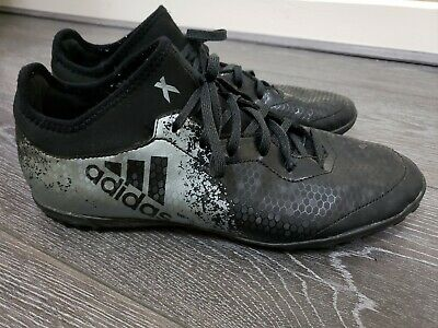 Mens Black Adidas Ace astro turf football trainers sock boots size 9 fit 8.5 8