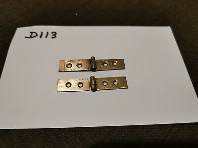 Pair of brass strap hinges for antique/vintage writing slope.