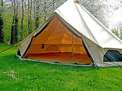360 GSM 4m Canvas Bell Tent With Zipped In Groundsheet USED EX- DISPLAY