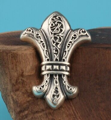 Preciou China 925 Silver Pendant Statue Hand-Carved Anchor Mascot Gift Decorate