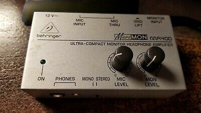 USED Behringer  MicroMon Ultra Compact Monitor Headphone Amplifier NO POWERCORD