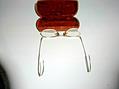Collectable Gold Antique 12K Gf Wire Rim Eye Glasses With Bifocals