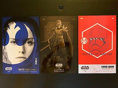 New York Comic Con-Nycc 2019~Topps Exclusive Lot Of 3 Star Wars Posters New!