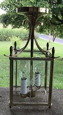 Vintage Brass And Etched Glass Ceiling Ilght Fixture Salvage Project